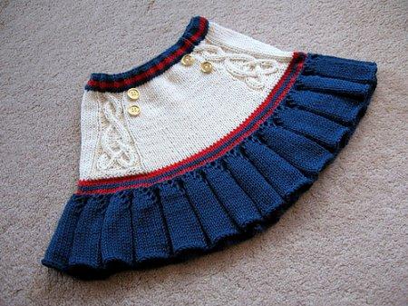 Вязание на спицами для детей юбки