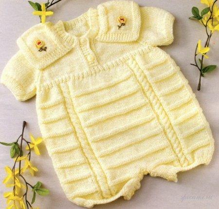 схема вязания боди для малышей