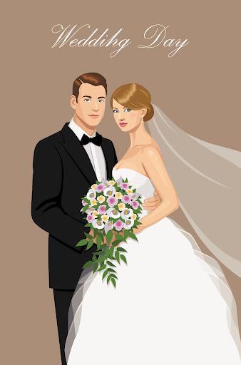 363Как нарисовать жениха с невестой карандашом поэтапно