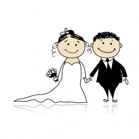 прикольные мультяшные свадебные картинки
