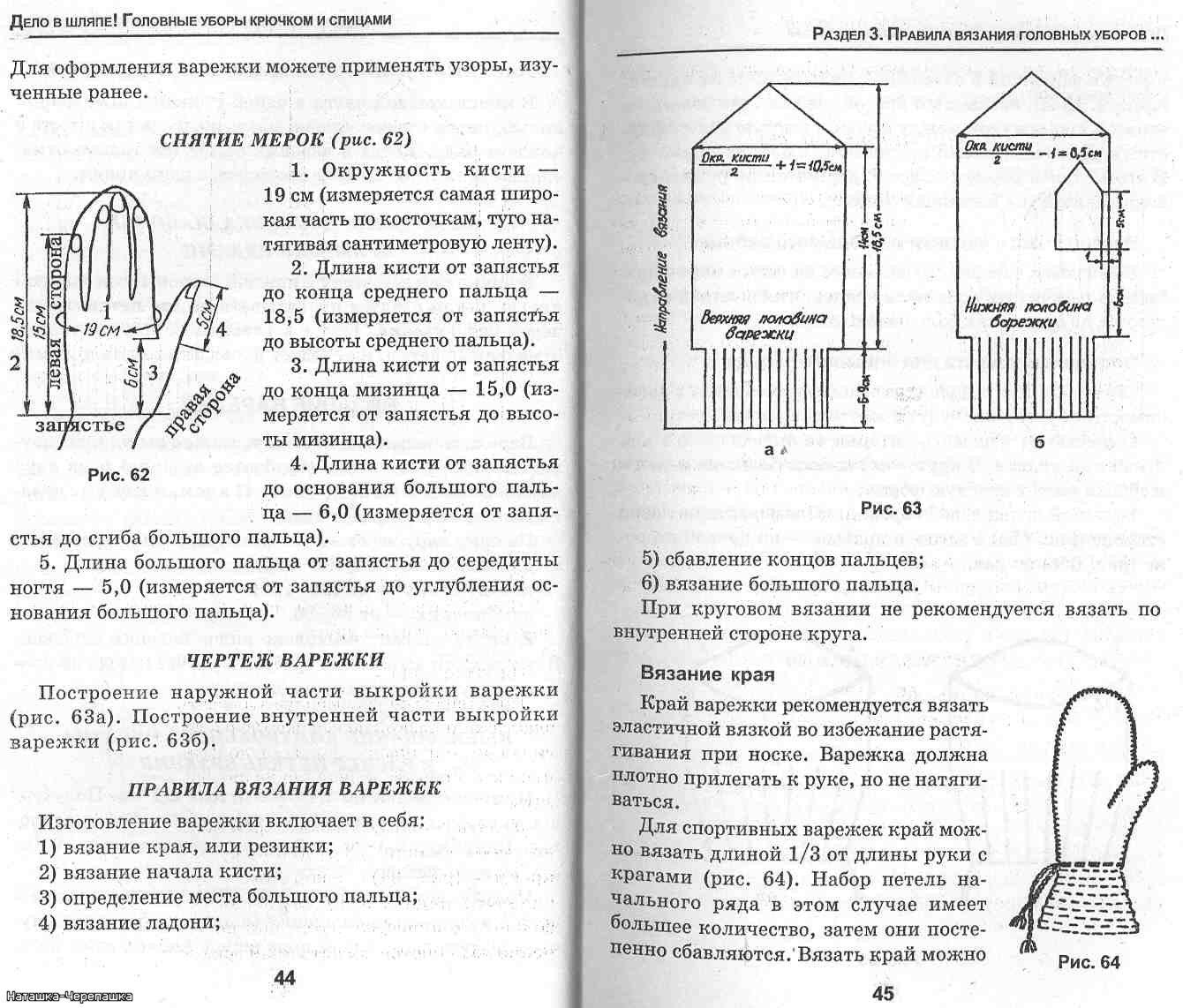 Схемы вязания варежек спицами с описанием для детей
