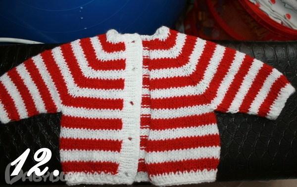 Вязание спицами от горловины детям