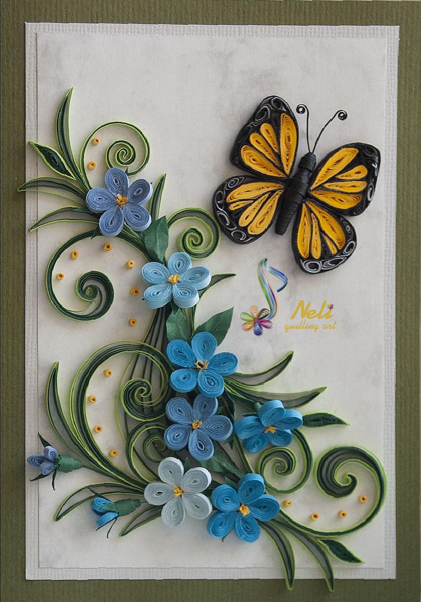 Квиллинг картинки для начинающих цветы 2