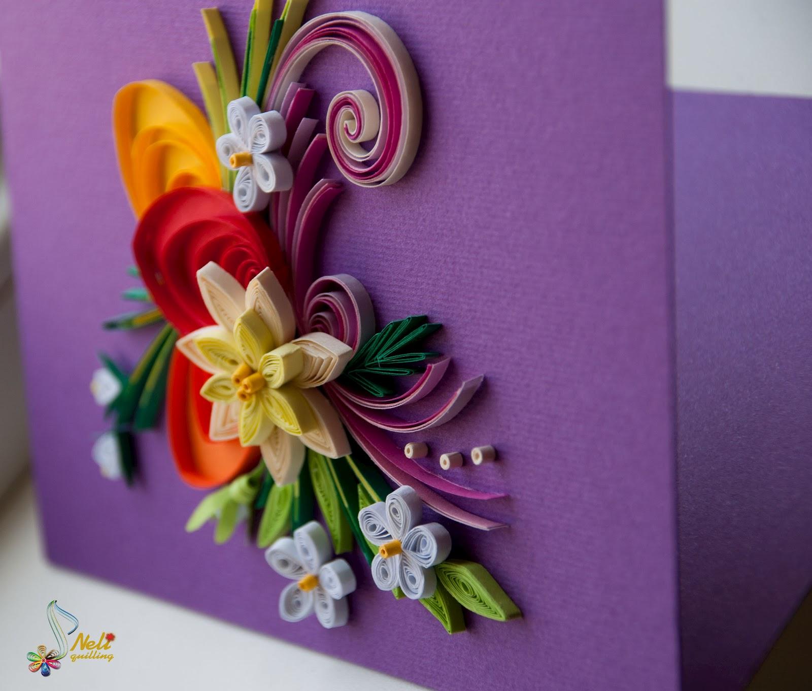 Квиллинг картинки для начинающих цветы 5