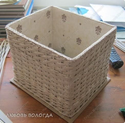 Плетение квадратной коробки из