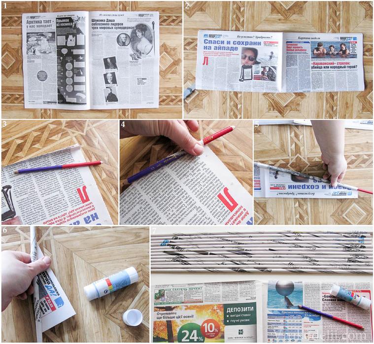 Подделка из газеты своими руками