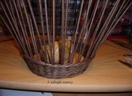 Косое плетение из газет на примере плетеной корзинки 1379404281_8