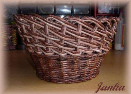 Косое плетение из газет на примере плетеной корзинки 1379404314_1