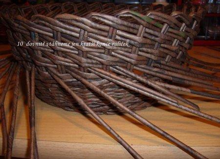 Косое плетение из газет на примере плетеной корзинки 1379404314_15