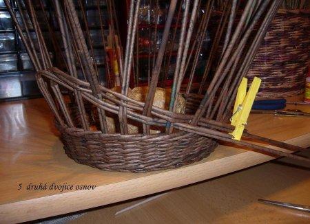 Косое плетение из газет на примере плетеной корзинки 1379404332_10