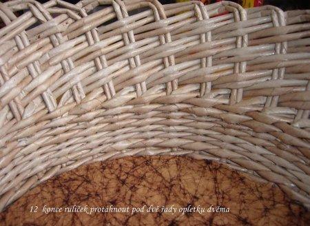 Косое плетение из газет на примере плетеной корзинки 1379404332_21