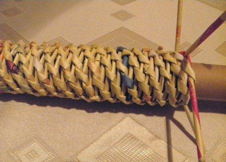 Спиральное плетение из газет: мастер класс на примере пасхального декора 1379407634_25
