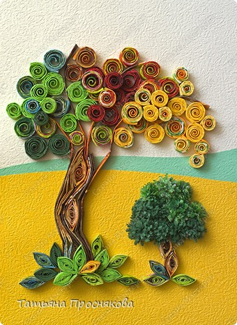 Квиллинг дерево: мастер-класс