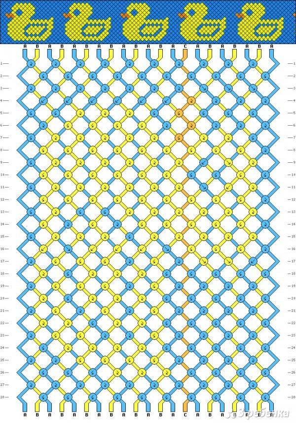 Схема плетения из ниток мулине для начинающих