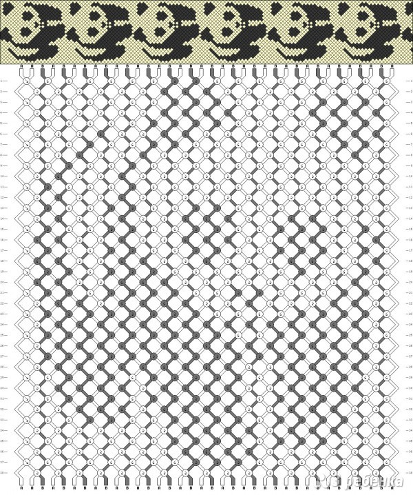 схемы фенечек из мулине