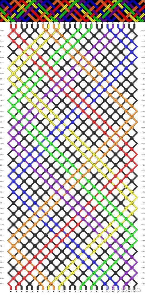 Все схемы для фенечек из бисера