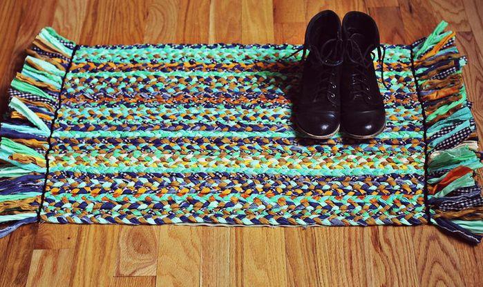 Плетёные коврики своими руками