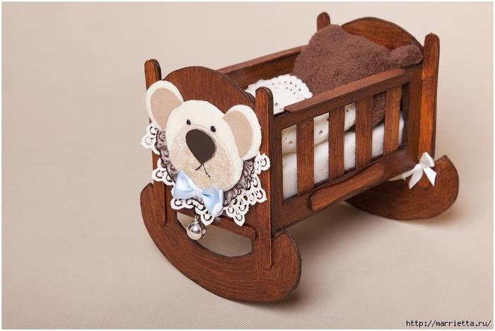 Кукольная мебель из картона