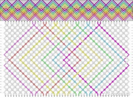 Схема фенечки из мулине сердечки фото 962