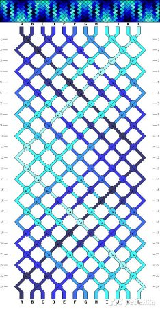 Схема фенечки крестики