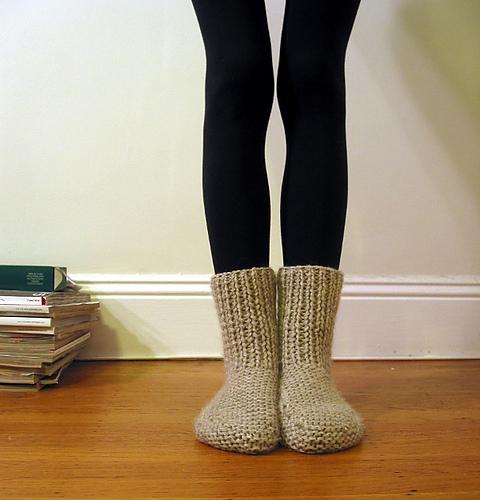 Вязание теплых женских носков