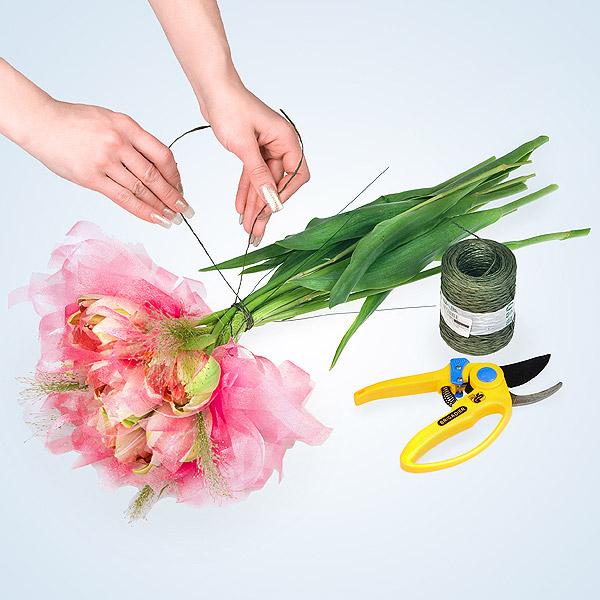 Пошаговое букеты из цветов