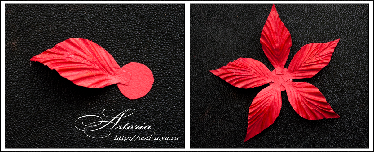 Цветок рождественская звезда своими руками из бумаги
