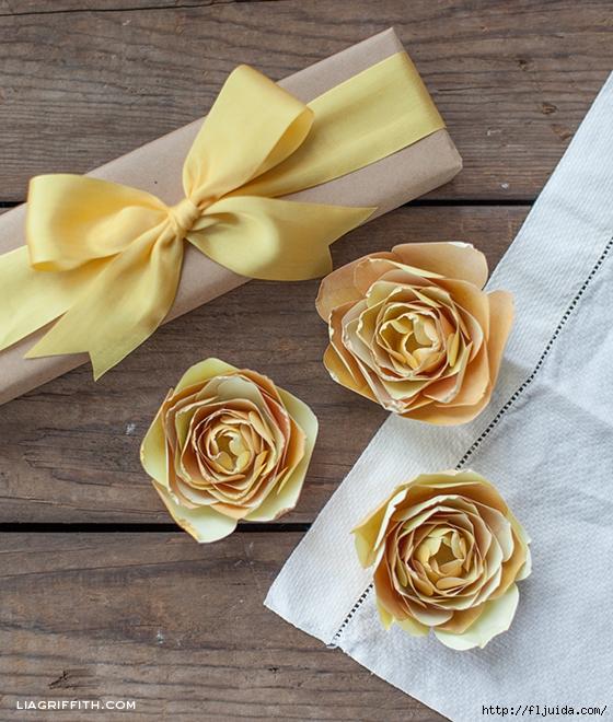 Мк по изготовлению цветов из бумаги