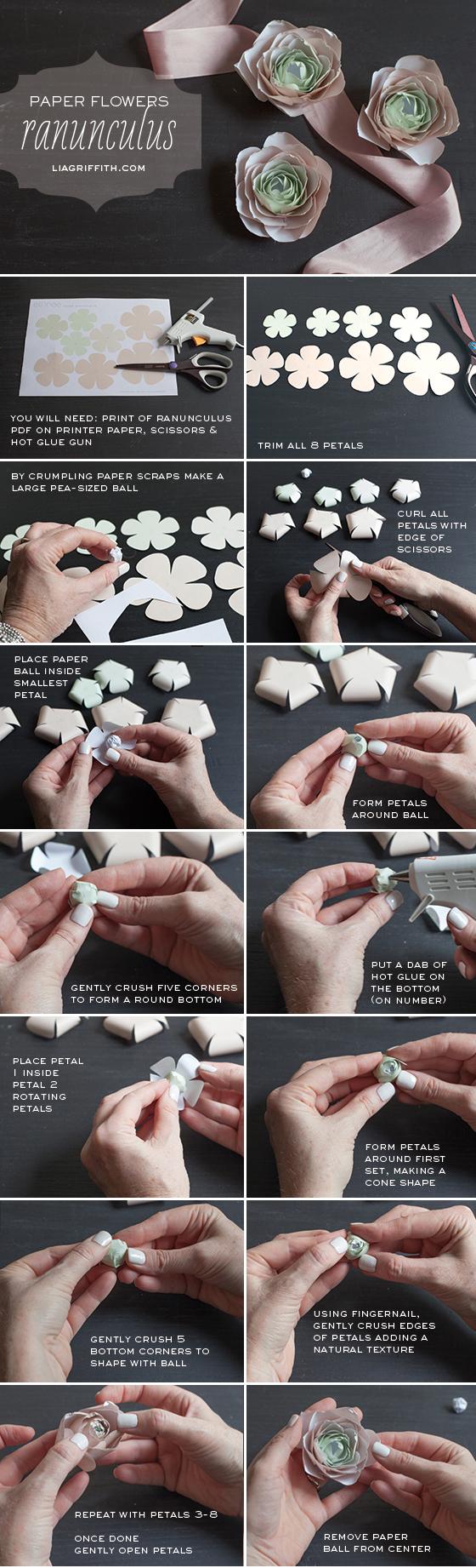 Сделать лютик из бумаги своими руками