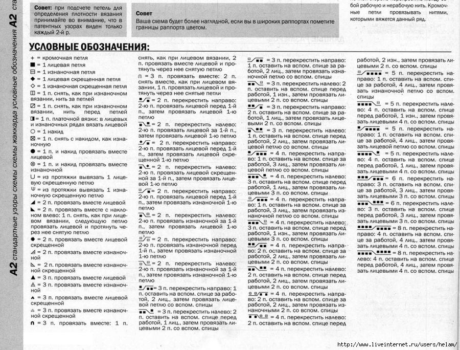 Схемы вязания чтение спицами 64