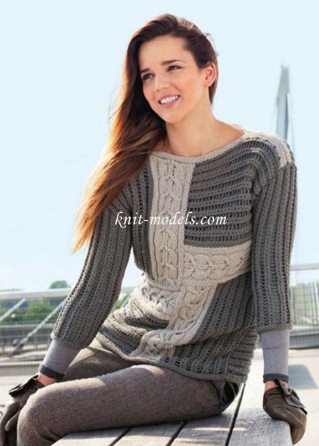 женского пуловера: схема с