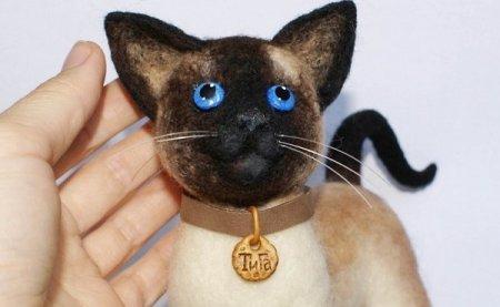 Мастер класс по валянию из шерсти игрушечного кота от автора Ларисы Ивановой