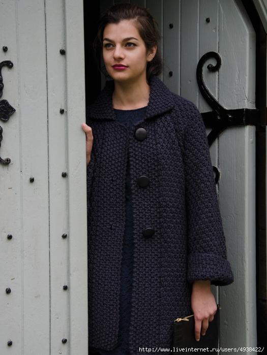 Вязание спицами пальто для