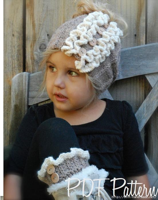 Вязание шапочки для девочки на голову 101