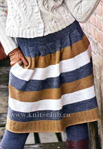 Вязание красивой теплой юбки