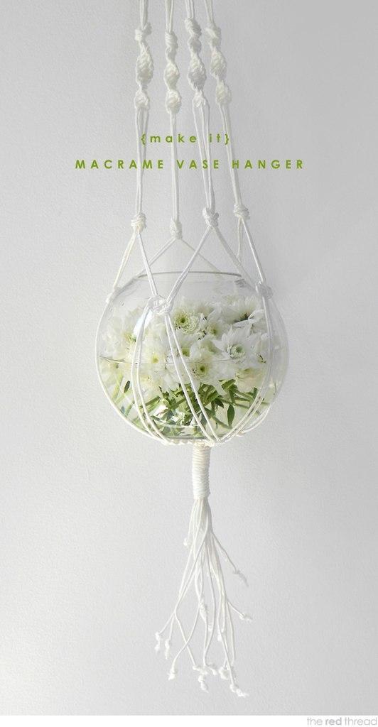 Макраме кашпо для цветов: