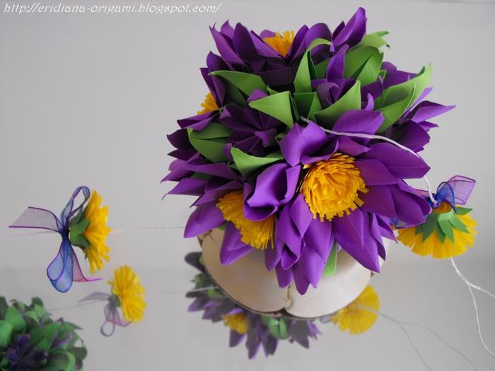 Цветы кусудама мастер класс
