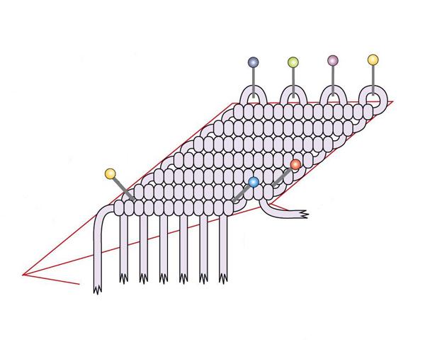 Плетение макраме: как сплести макраме звезду из бисера.