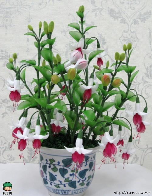 Цветы из капрона своими