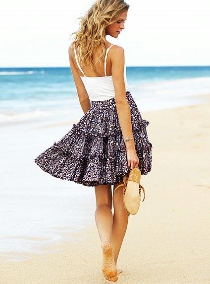 Летняя юбка с оборками