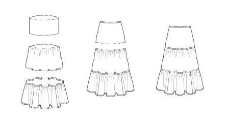 Схемы для пошива юбок