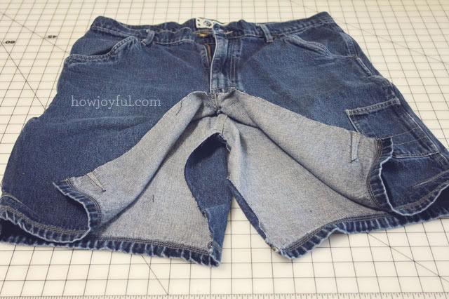 Как сшить юбку из старых шорт фото 578