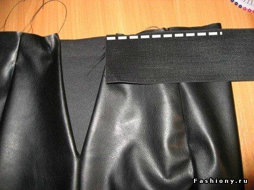 Как сшить кожаную юбку