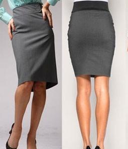 Фото прямая юбка со шлицей
