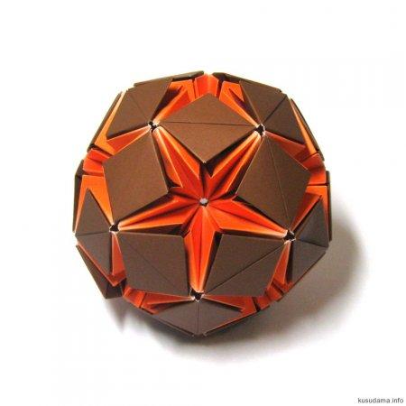 Оригами волшебный шар из бумаги схема