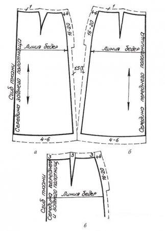 Выкройка прямой юбки со шлицей сзади построение фото 134