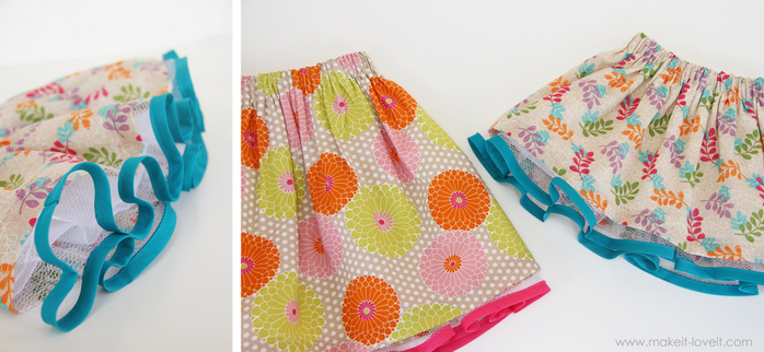 Сшить детскую юбку мастер класс