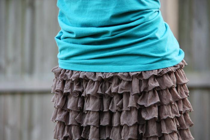 Как сшить юбку из трикотажа резинка