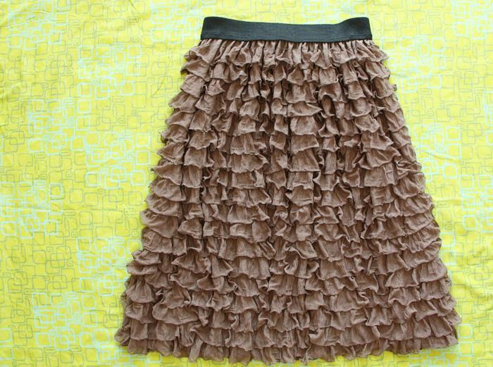 Технология юбки с воланами