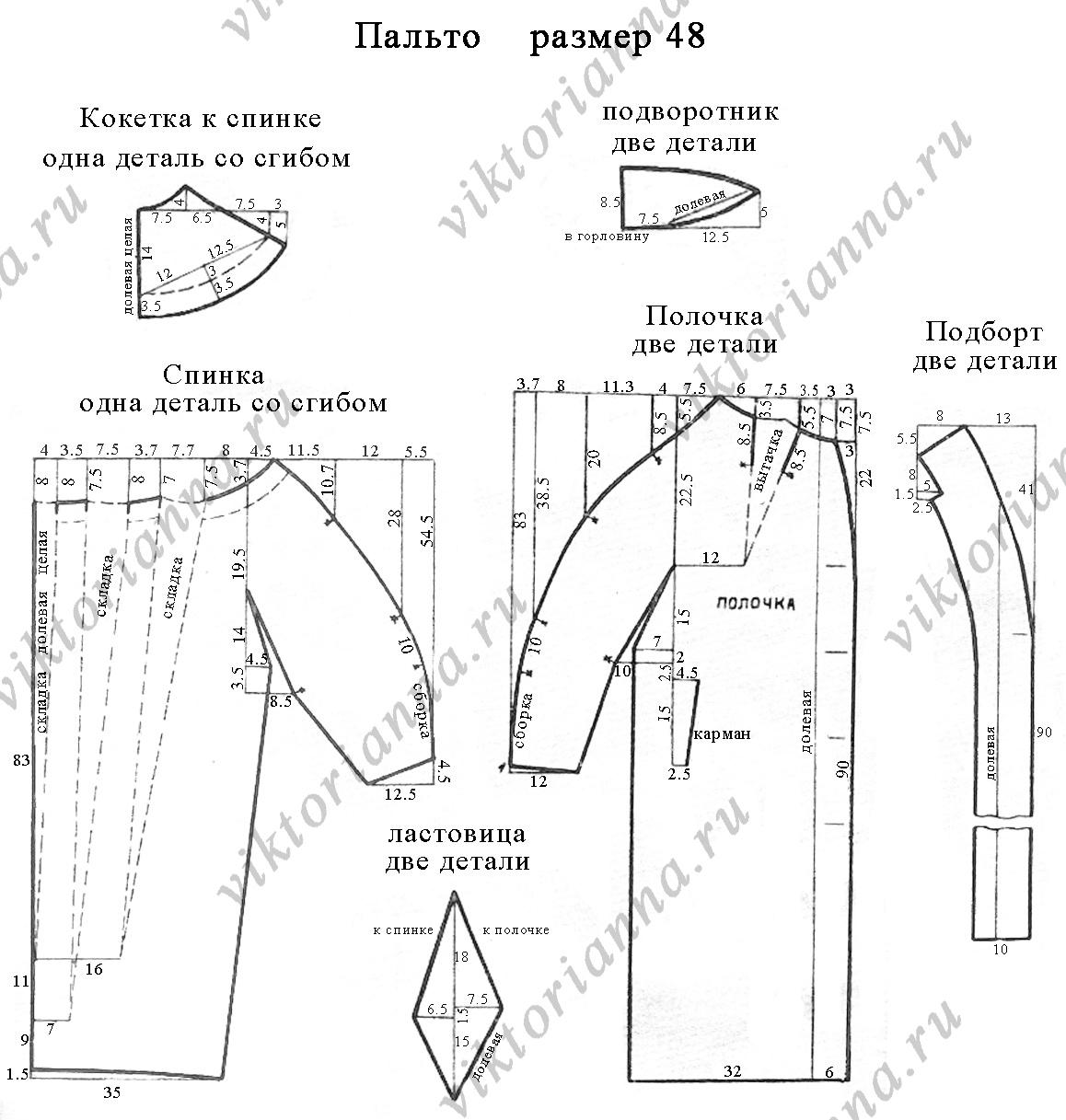 выкройка пальто женское готовые